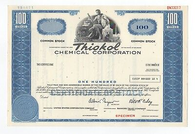 SPECIMEN - Thiokol Chemical Corporation Stock Certificate