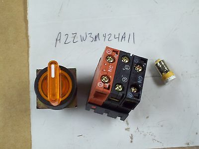 Selector Switch 1a Spring Return NHD NSS22-K010 Key 3 Position
