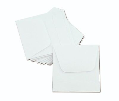 1000/pk - 2x2 COIN ENVELOPES MH Paper White Gummed Seal Acid Free