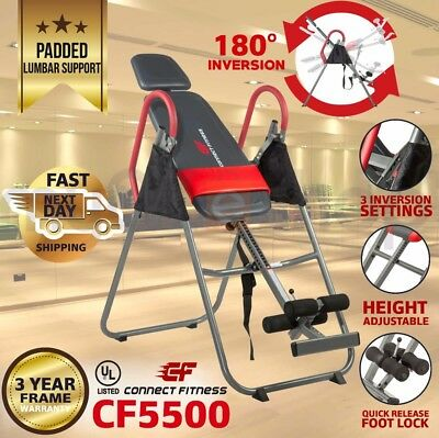 CONNECT FITNESS INVERSION TABLE Folding Upside Down Gravity Back Pain Home Gym
