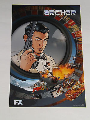 SDCC 2015 EXCLUSIVE ARCHER PROMO POSTER by fox
