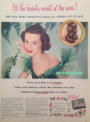 Original Vintage British Ad: Pin-Up Home Permanent (1952)