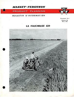 Brochure Leaflet Tracteur Tractor Massey Ferguson MF 829 12 pages