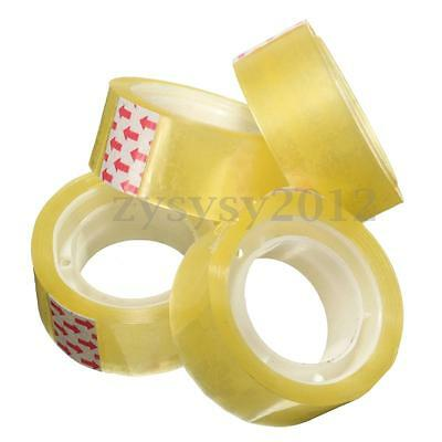 1 Roll Clear Tape Transparent Sellotape Stationery Easy Sticky Packing Tapes