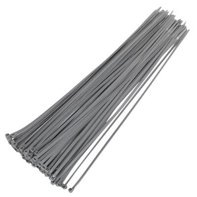 370mm x 4.8mm Nylon Plastic Grey Cable Ties Wraps Wheel Trim Zip Extra Strong