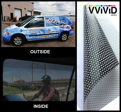 "Perforated mesh adhesive printing vinyl 100ft x 54"" VVIVID XPO window film decal"