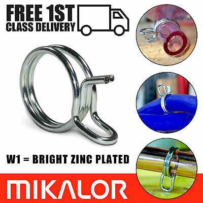 Double Wire Vacuum Hose Spring Clips Band Petrol Fuel Line Air Fuel Tube Clamps
