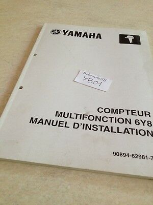 Yamaha compteur 6Y8 hors bord  installation manuel atelier service manual