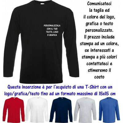 T-Shirt Personalizzata 15x15 Uomo Valueweight Cotone Fruit of the Loom Man MS10