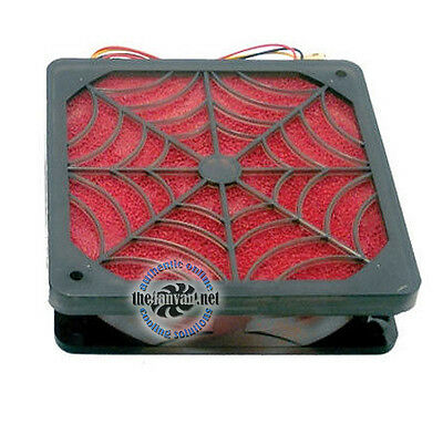 Evercool 120mm ANTI DUST Spider Filter Fan SFF-12 80 CFM! + Screws and Adapter!
