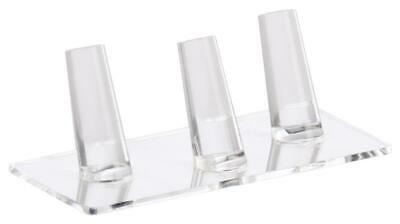 """5.3"""" x 1.8"""" x 2.3"""", Ring Finger Jewelry Display, Acyrlic, Holds 3 Bands - Clear"""