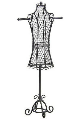 "8.0"" x 18.0"" x 5.0"", Jewelry Display Dress Form, Mesh Screen for Chains and Earr"