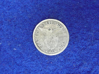 Philippines US Administration 1918 silver Ten Centavos