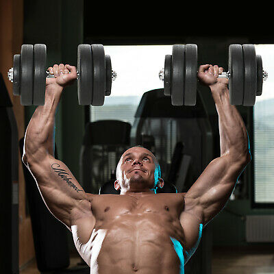 110lbs Dumbbell Set Home Training Workout Fitness Hand Weights Adjustable