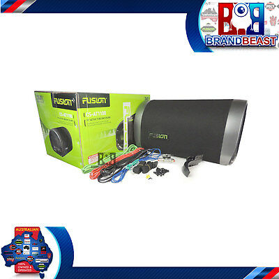 """Fusion Cs-at1100 10"""" 360w Car Audo Active Bass Tube Built-in Amp Subwoofer Sub"""