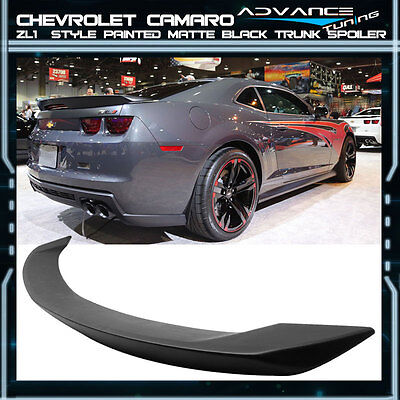 10-13 Chevrolet Camaro ZL1 Style Trunk Spoiler Wing Painted Matte Black ABS
