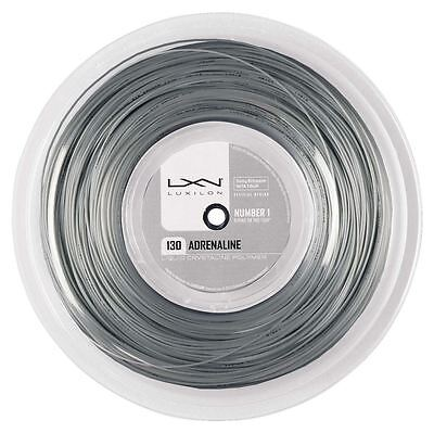 Luxilon Adrenaline 1.25mm (silver) 200m reel tennis string