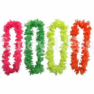 Bright 90cm Hawaiian Lei Luau Hula Girl Flower Garland Hen Night Neon
