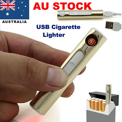 USB Lighter Rechargeable No Gas Windproof Electric Cigarette Flameless Lighters