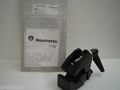 Morsetto Gancio Universale Superclamp 035 Manfrotto Codolo Scelta Foto Video Tv