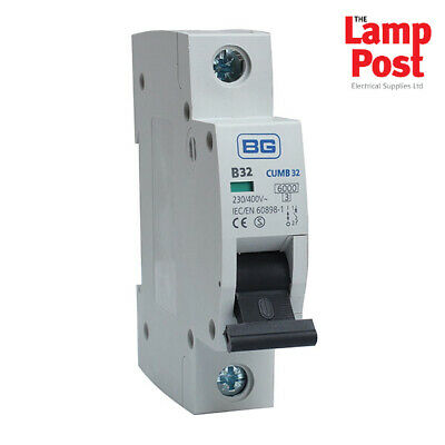 BG CUMB32 - British General 32A 32 Amp SP MCB Circuit Breaker Fuse