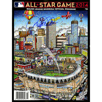 Derek Jeter Signed Fazzino Art Version 2014 All-Star Game Program - Steiner COA