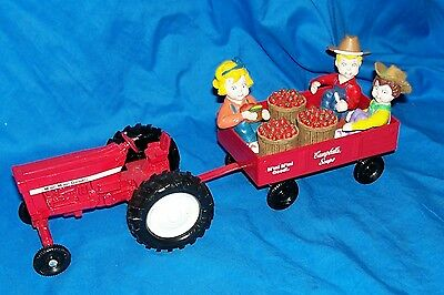 1998 Ertl Campbell's Soup Toy Tomato Farm Tractor Wagon Vintage 74-7650 Vehicle