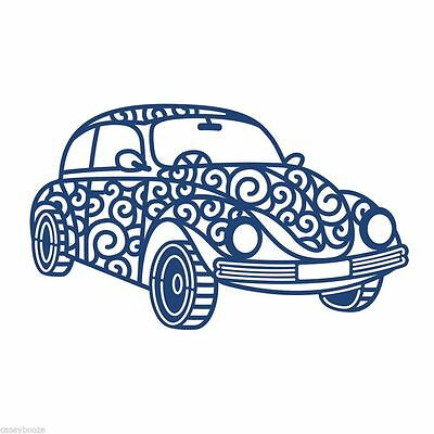 Retro Car Die Tattered Lace D454 Beetle