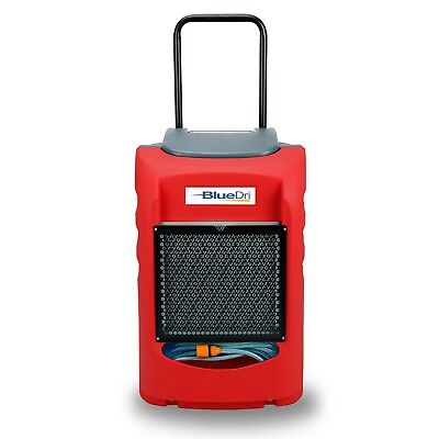 BlueDri BD-LGR75C 145PPD Compact LGR Industrial Commercial Dehumidifier, Red