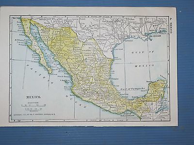 1916 Vintage  MAP MEXICO Dated    FREE SHIPPING