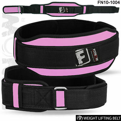 Weight Lifting Belt Fitness Gym Workout Neoprene Double Support Brace Pink