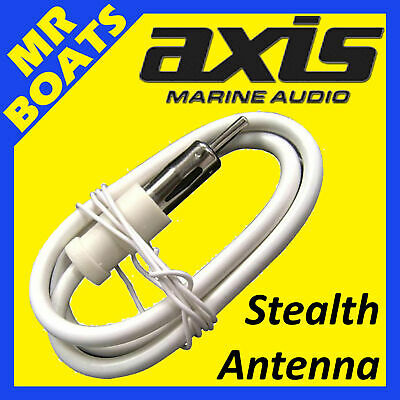 AXIS ✱ AM / FM ANTENNA ✱ Marine STEALTH Dipole Bulkhead  Antenna Waterproof MA1