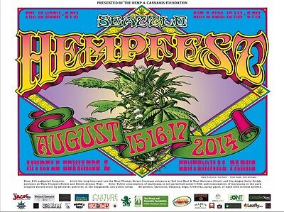 7 Pack #2 Seattle HEMPFEST® Official Posters NOW 50/% OFF!