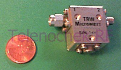 RF microwave single junction isolator 6000 MHz - 18.0 GHz /  10 Watt / data