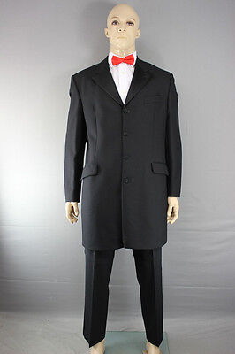 Pure Wool Ex Hire Prince Edward Jacket/formalwear Wedding Black Frockcoat 36-48""