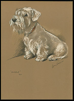SEALYHAM TERRIER LOVELY 1940'S DOG ART PRINT by MAC LUCY DAWSON