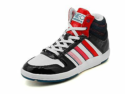 ADIDAS WOMENS HI Top Traines, Girls Adidas Neo BBall Mid Top White Size 3 8