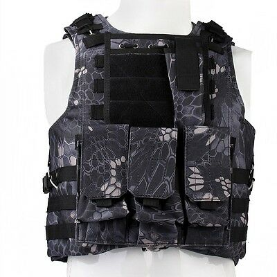 New Army Tactical Airsoft Assault Combat Molle Plate Carrier Vest Typhon