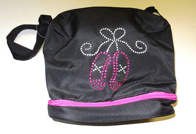 NWT Horizon Girls  All That Shimmers Gear Tote # 2033 Black Fuchsia Rhinestones