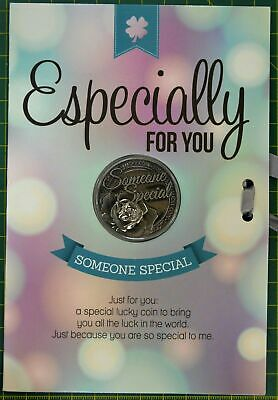 ESPECIALLY FOR YOU CARD & LUCKY COIN, 115 x 170mm Luck Coin 35mm, Lovely Gift