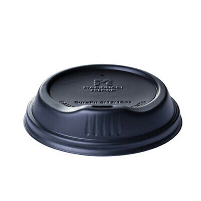 100x Coffee Lid Sipper Lip Black For 12&16oz Coffee Cups Disposable Take Away