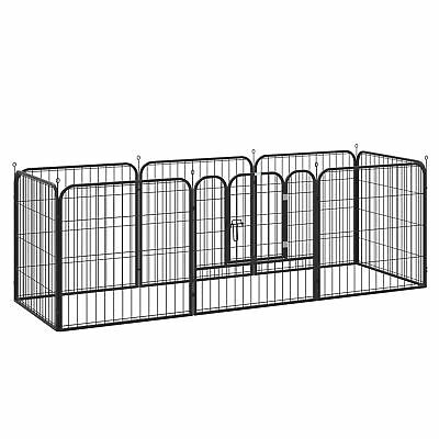 Pawhut  0.8x0.8m Pet Rabbit Guinea Dog Pig Puppy Playpen Metal Hutch Cage House