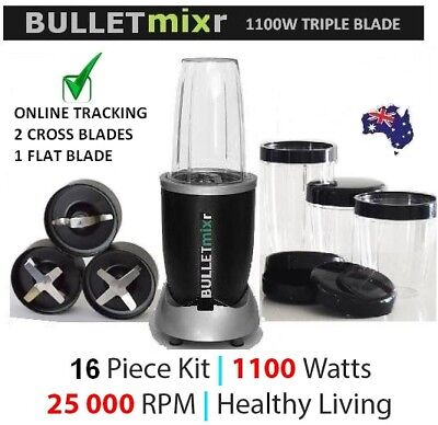 Bulletmixr™ Pro 1100 Bullet Food Extractor Magic Blender Juicer Nutri New 1100W