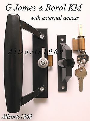 Sliding glass door lock handle G James Boral KM replacement with external access