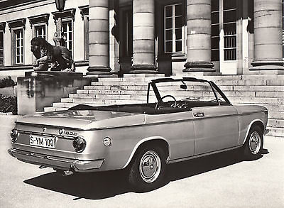 Bmw 1600 Cabriolet - 85 Ps, Period Press Photograph.