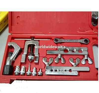 Thorstone 10Pcs Flaring-Swaging Tool Kit Include Tubing Cutter/&Ratchet Wrench,for HVAC,Tubing,Copper Pipe Flaring