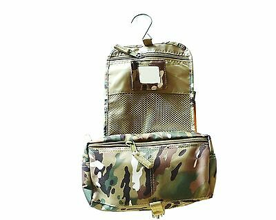 MENS LARGE TRAVEL WASH BAG camo shower bath kit bomb proof fabric military pouch