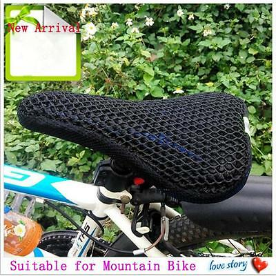 Cycling Bicycle Bike Pad Seat 3D Saddle Cover Breathable Mesh Insulation Cushion