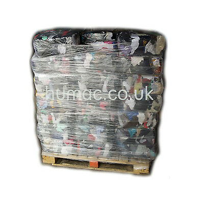 50 X 10KG Cotton Tshirt Rags Wiping Cleaning Polishing Rag Cloths Wiper Pallet