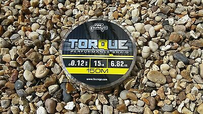 Fox Rage Torque Performance Braid Yellow 150m Spool For Spinning / Lures WH*